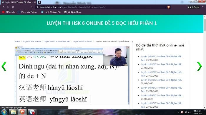 luyện thi hsk 6 online đề 6 đọc hiểu phần 2