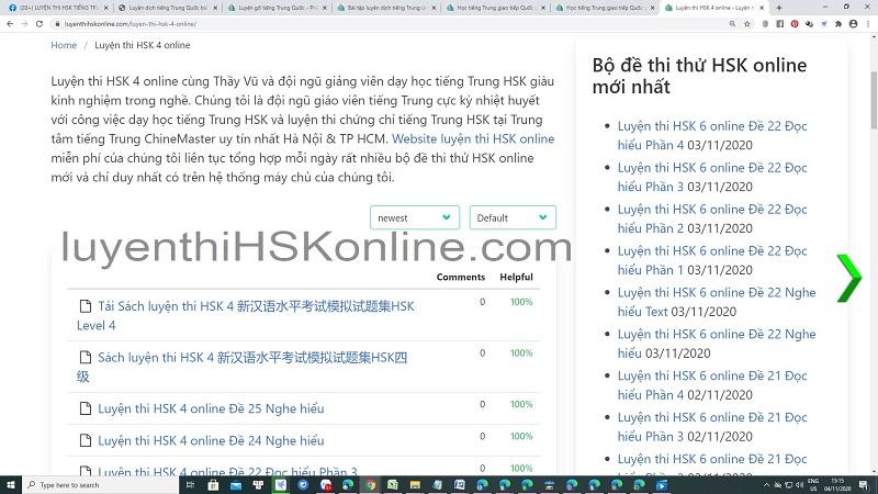 Bài tập Luyện dịch tiếng Trung HSK 4 Nghe hiểu - Bài tập luyện dịch tiếng Trung ứng dụng Thầy Vũ ChineMaster