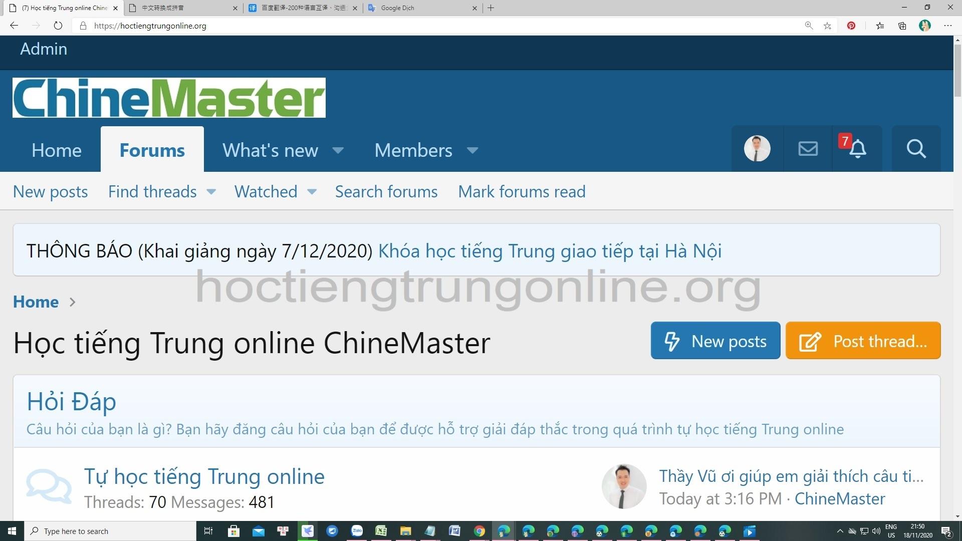 Diễn đàn học tiếng Trung HSK - Diễn đàn học tiếng Trung ChineMaster uy tín