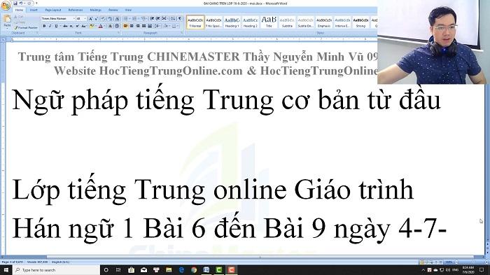 Luyện dịch tiếng Trung HSK 4 Nghe hiểu bài 3 trung tâm tiếng Trung luyện thi HSK online TiengTrungHSK ChỉneMaster