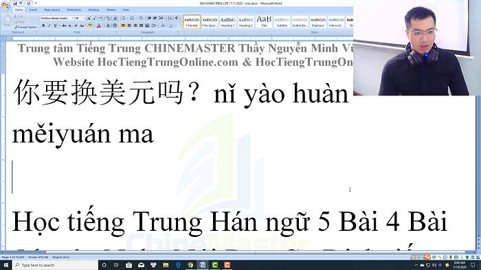 Luyện dịch tiếng Trung HSK 4 Nghe hiểu bài 37 trung tâm tiếng Trung luyện thi HSK online TiengTrungHSK ChỉneMaster