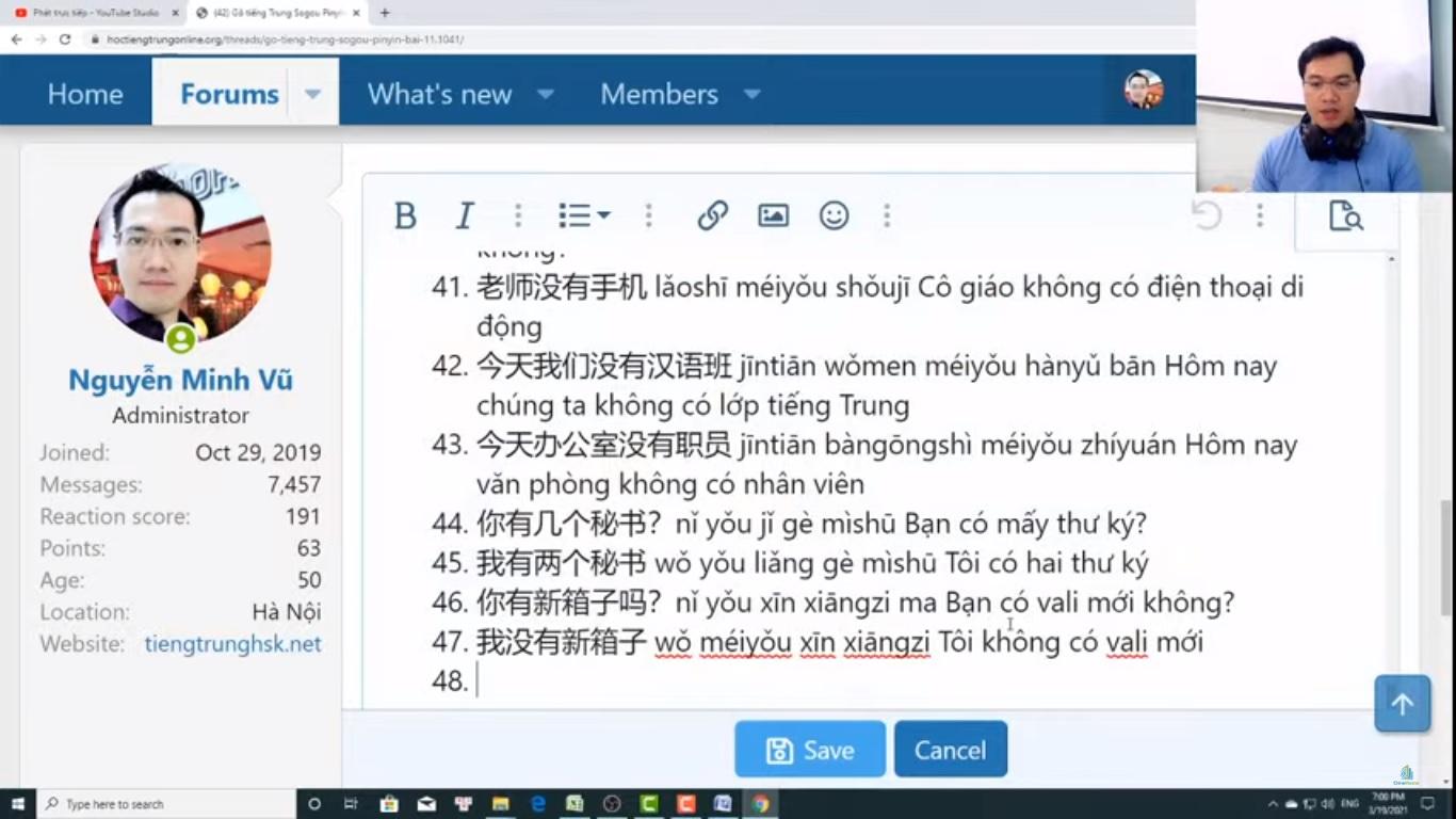 Trung tâm tiếng Trung Quận 10 thi thử HSK online bài 2