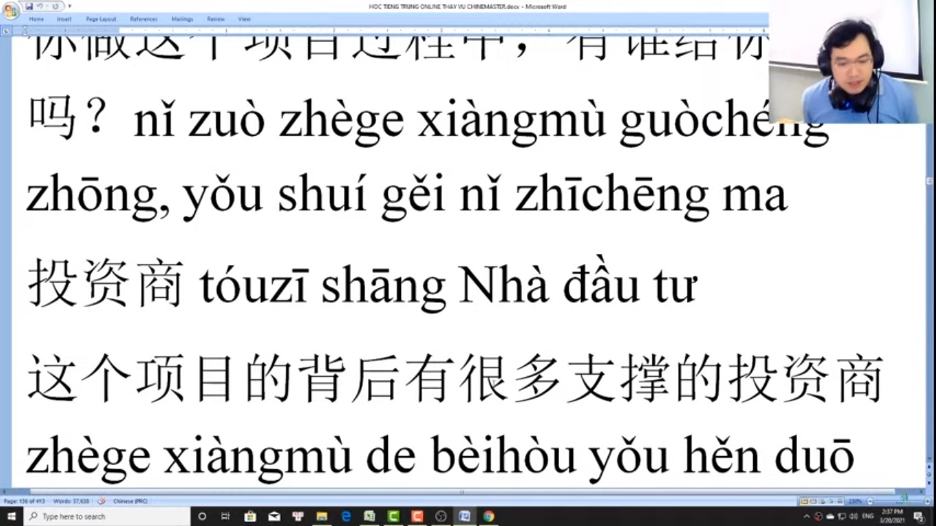 Trung tâm tiếng Trung Quận 10 thi thử HSK online bài 3