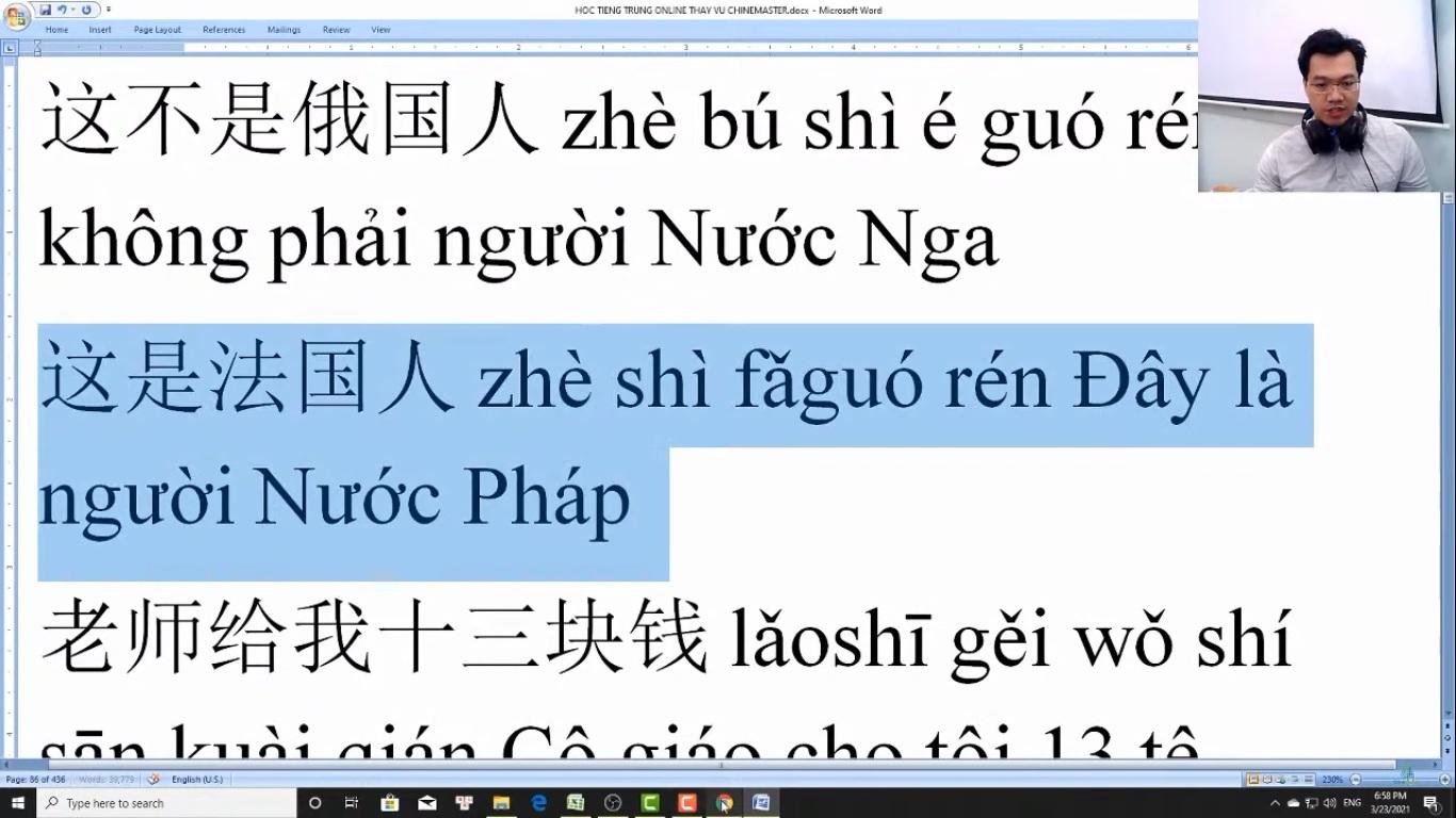 Trung tâm tiếng Trung Quận 10 thi thử HSK online bài 8