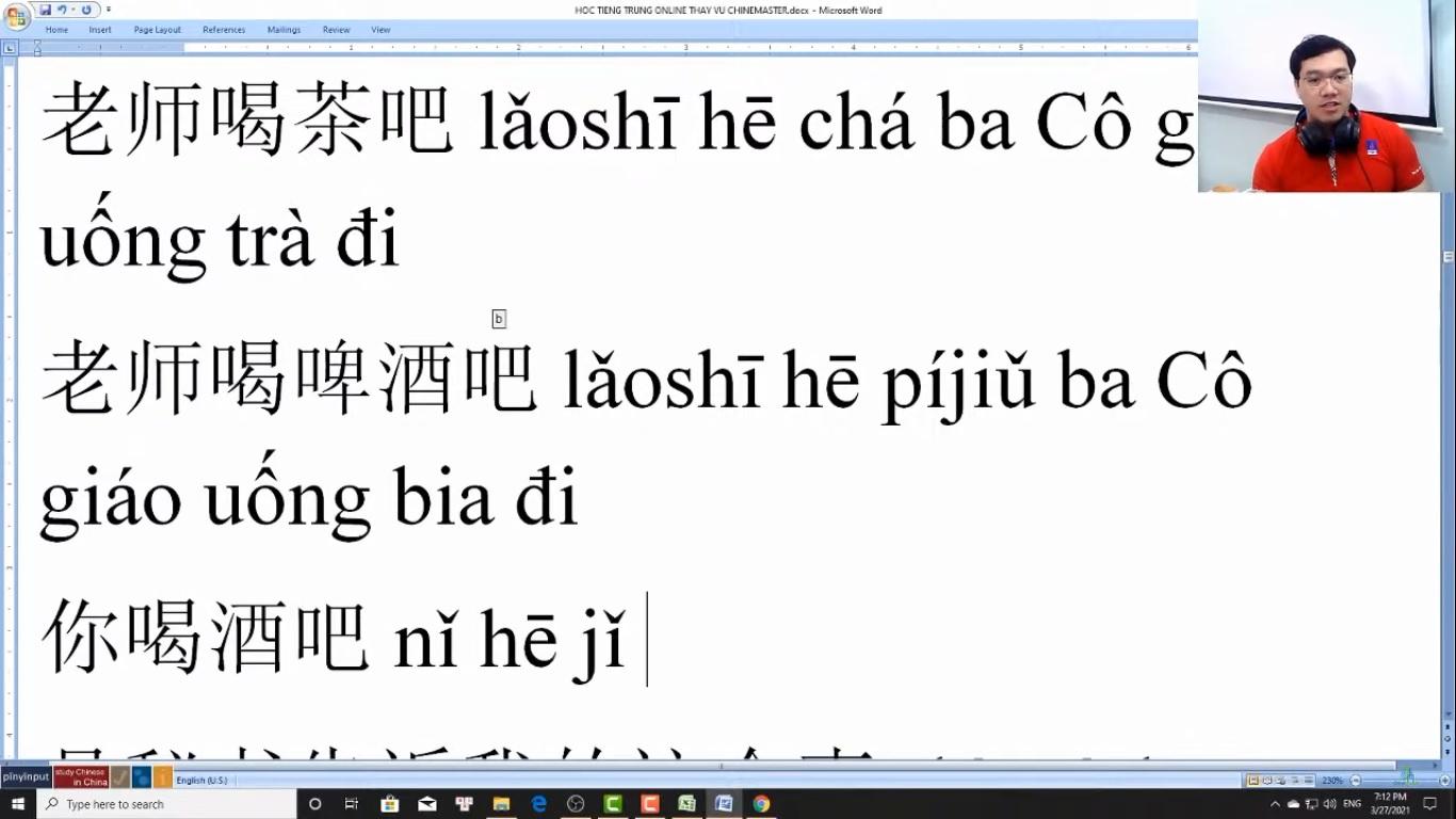 Trung tâm tiếng Trung Quận Thanh Xuân Review phần 2
