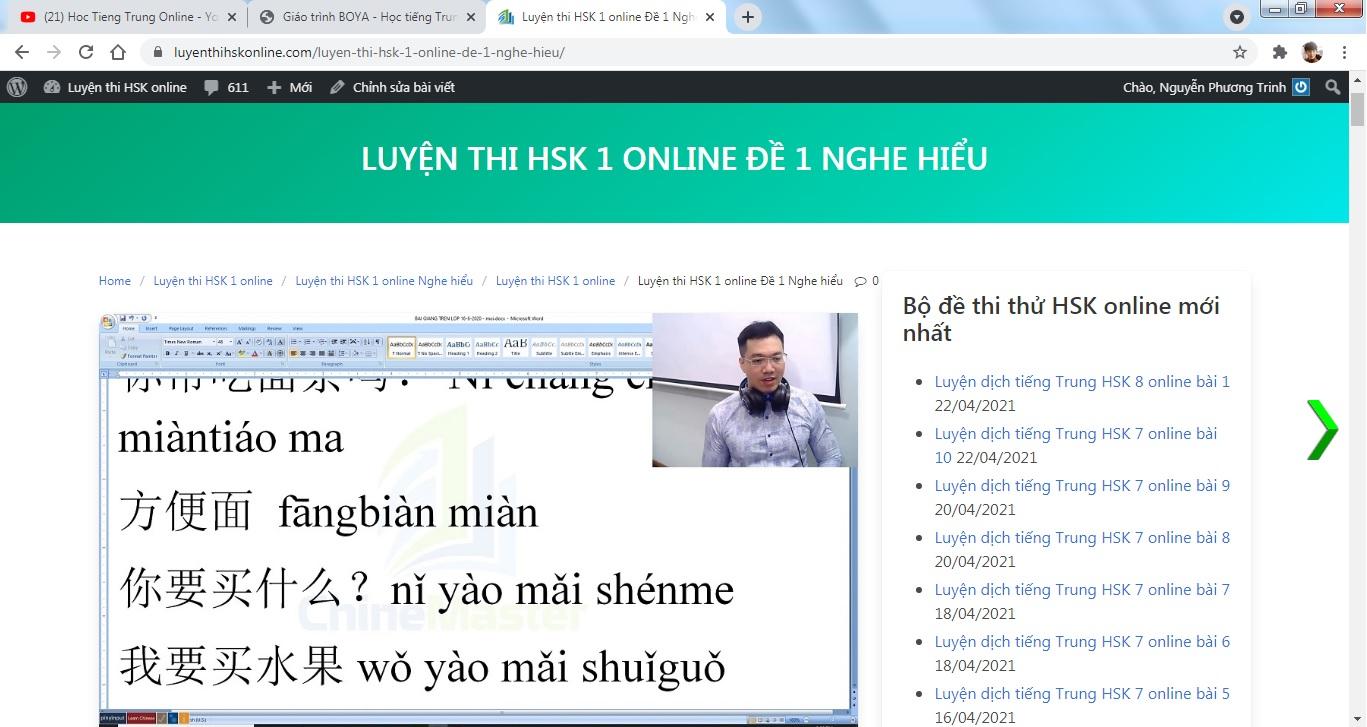 Luyện dịch tiếng Trung HSK 8 online bài 2