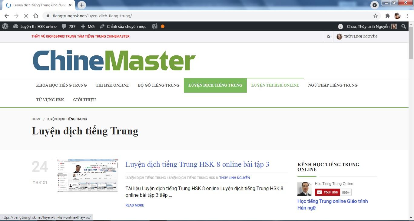 Luyện dịch tiếng Trung HSK 8 online bài 4