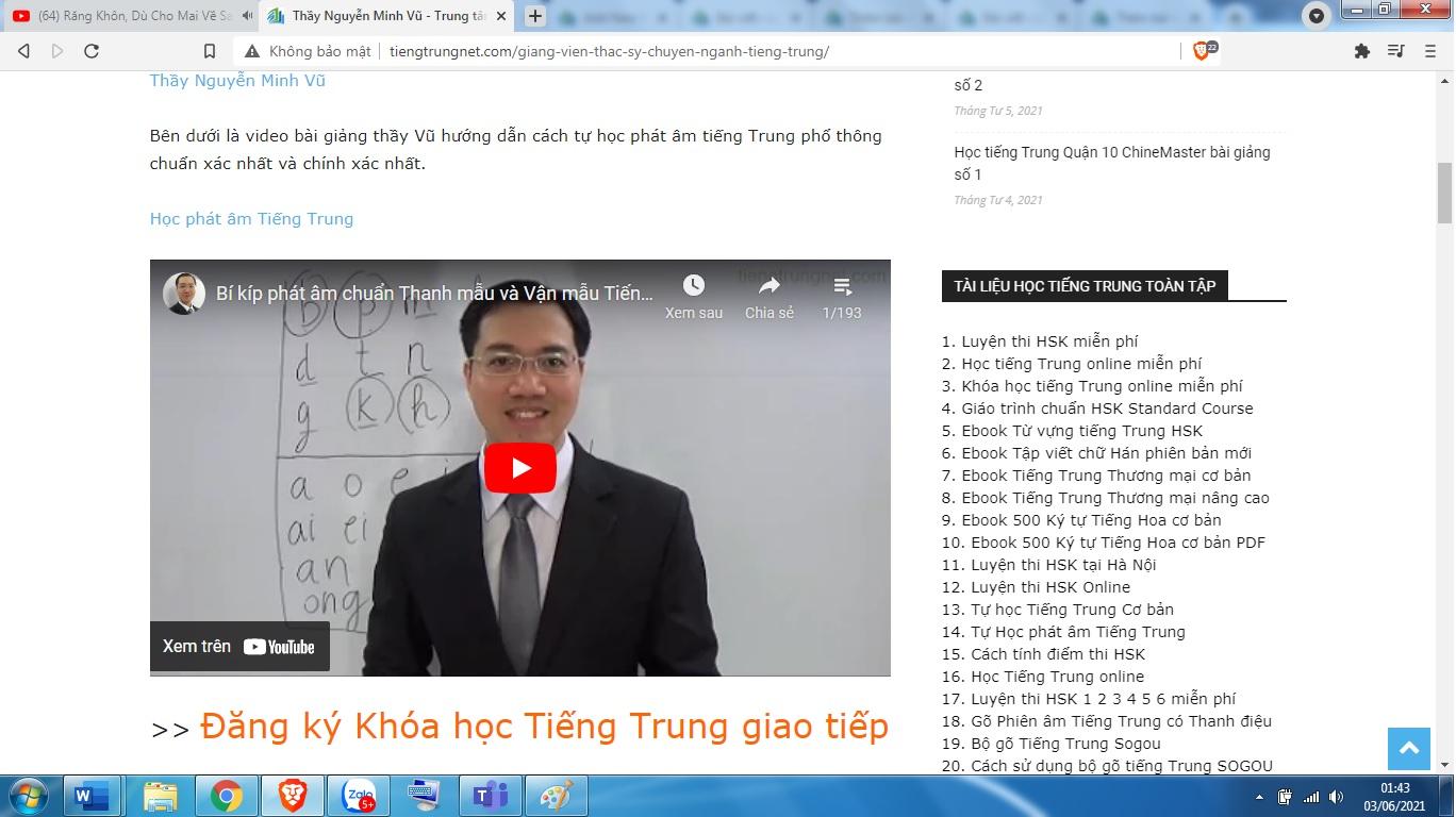 Chuyên đề học từ vựng HSK 7 HSK 8 HSK 9 cùng Thầy Vũ