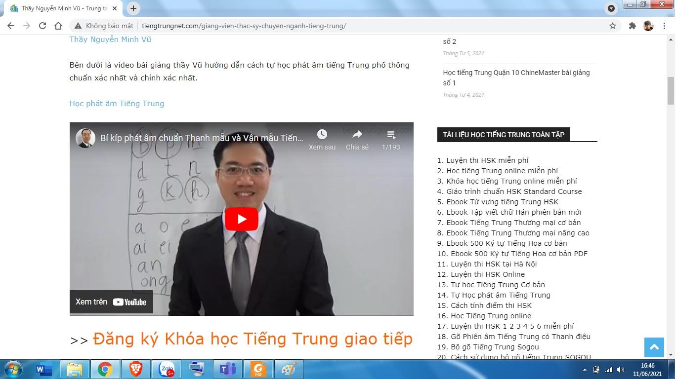 Luyện thi HSK 8 theo giáo trình Hán ngữ 8 ChineMaster