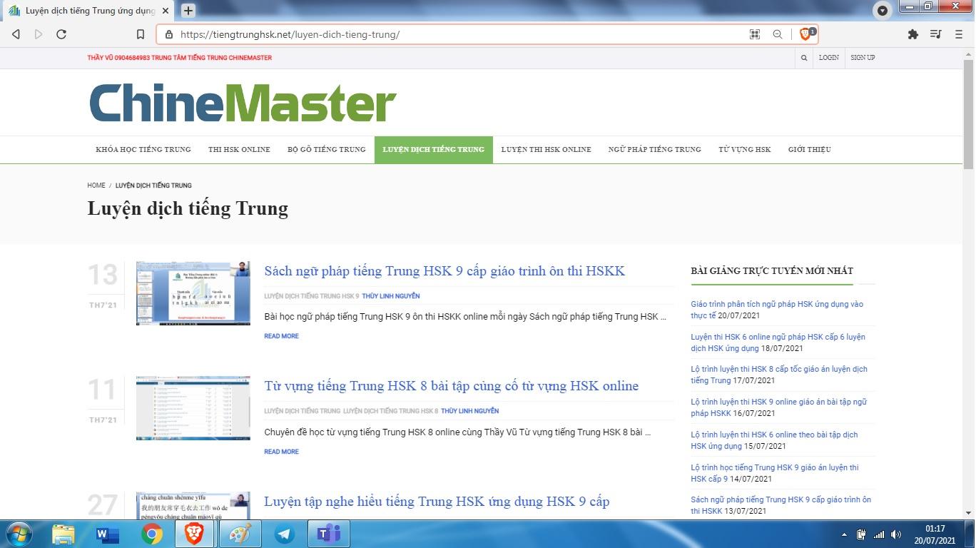 Giáo trình ngữ pháp tiếng Trung HSK 7 luyện dịch tiếng Trung ứng dụng